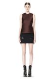 ALEXANDER WANG CROPPED SKIRT WITH DISTRESSED DETAIL SKIRT Adult 8_n_f