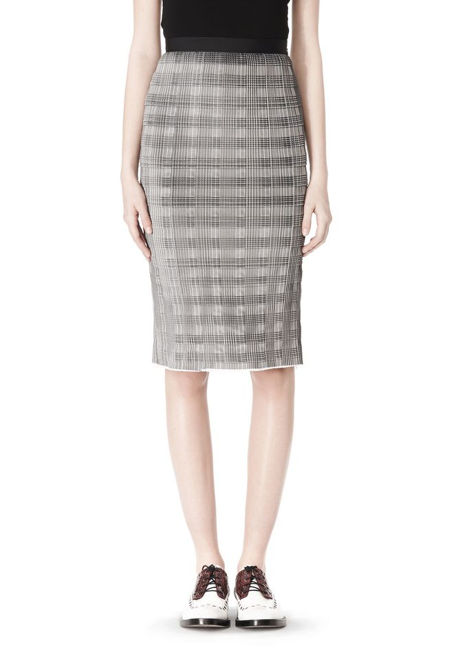 ALEXANDER WANG PLEATED SKIRT WITH RAW EDGE FINISH SKIRT Adult 12_n_d