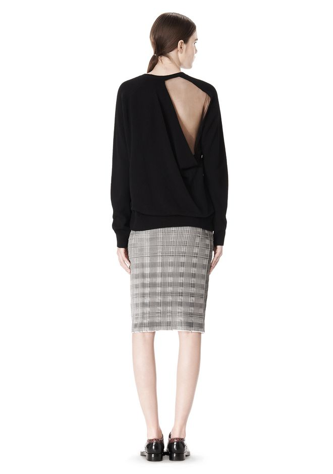 ALEXANDER WANG PLEATED SKIRT WITH RAW EDGE FINISH SKIRT Adult 12_n_r