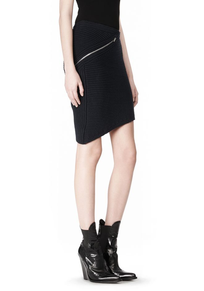 ALEXANDER WANG ZIP PEEL AWAY SKIRT SKIRT Adult 12_n_a