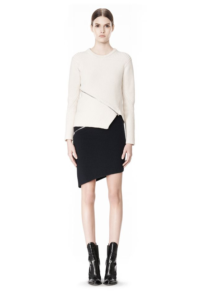 ALEXANDER WANG ZIP PEEL AWAY SKIRT SKIRT Adult 12_n_f