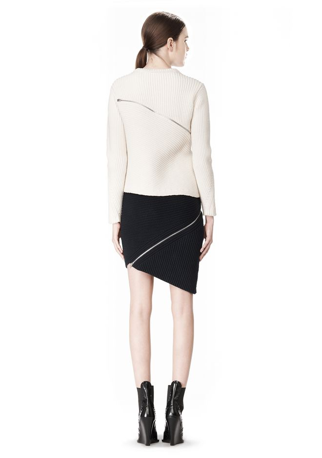ALEXANDER WANG ZIP PEEL AWAY SKIRT SKIRT Adult 12_n_r