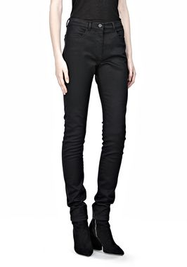 STRETCH SATEEN HIGH WAISTED JEANS