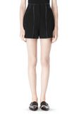 T by ALEXANDER WANG DOUBLE FACE BONDED HIGH WAISTED SHORTS SHORTS Adult 8_n_d