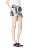 STRIPED FRENCH TERRY SWEATSHORTS