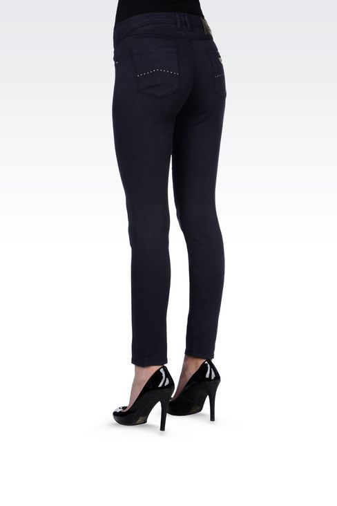 JEGGINGS IN MODAL AND LYOCELL: Jeans Women by Armani - 4
