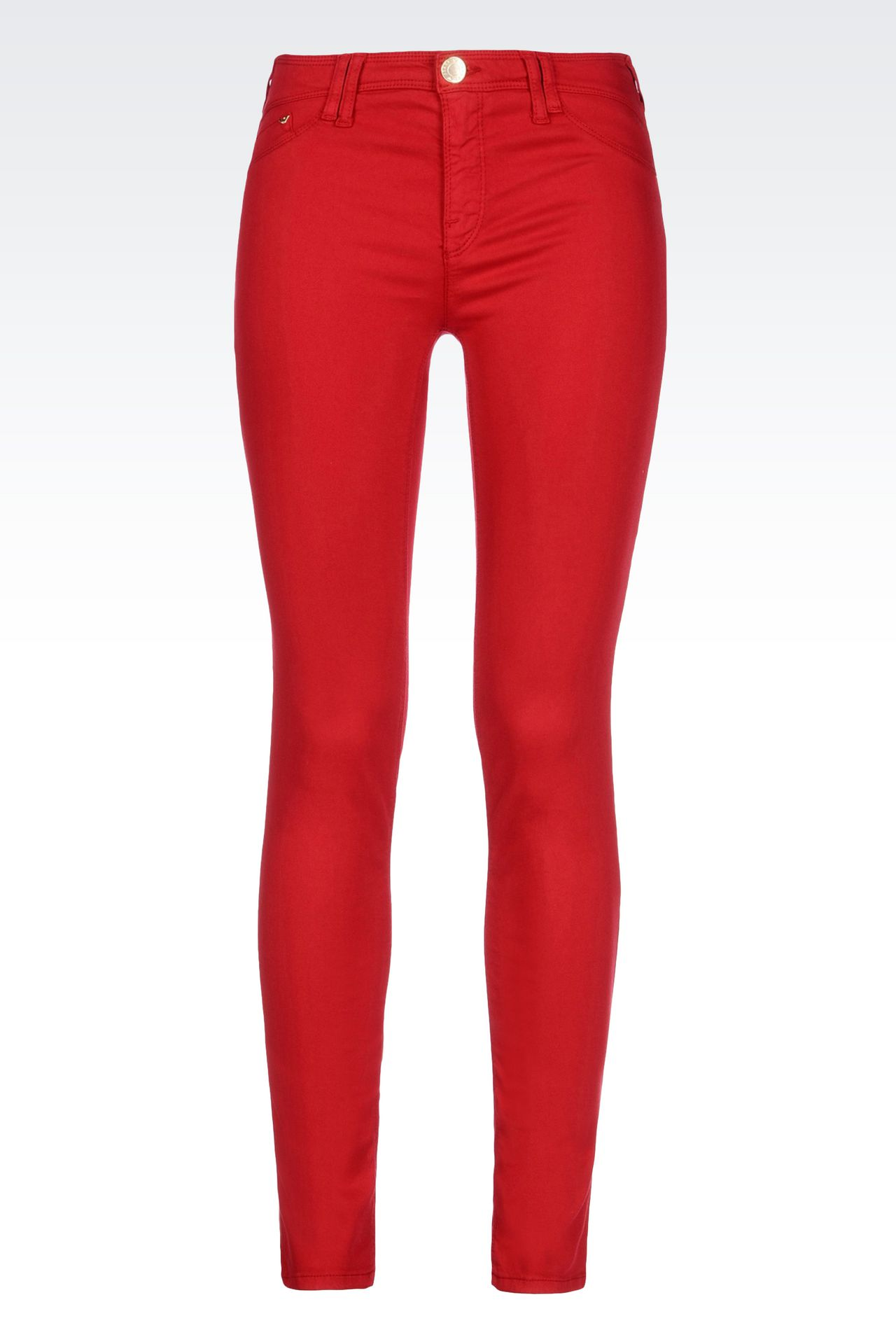 JEGGINGS IN MODAL AND LYOCELL: Jeans Women by Armani - 0
