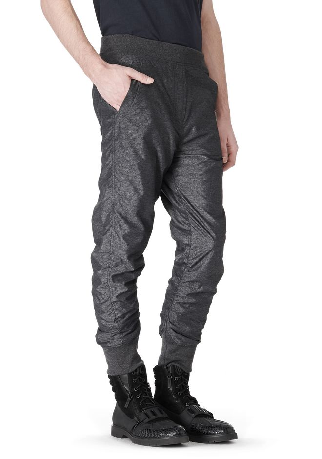 T by ALEXANDER WANG MELANGE DOBBY NYLON TRACKPANTS PANTS Adult 12_n_a