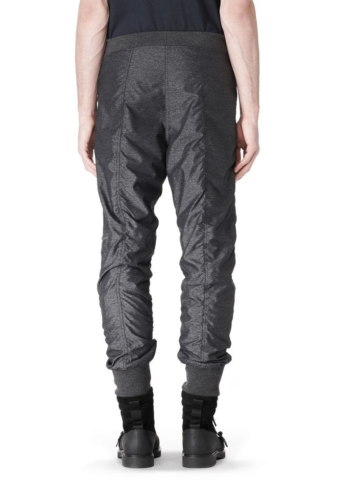 T by ALEXANDER WANG MELANGE DOBBY NYLON TRACKPANTS PANTS Adult 12_n_d