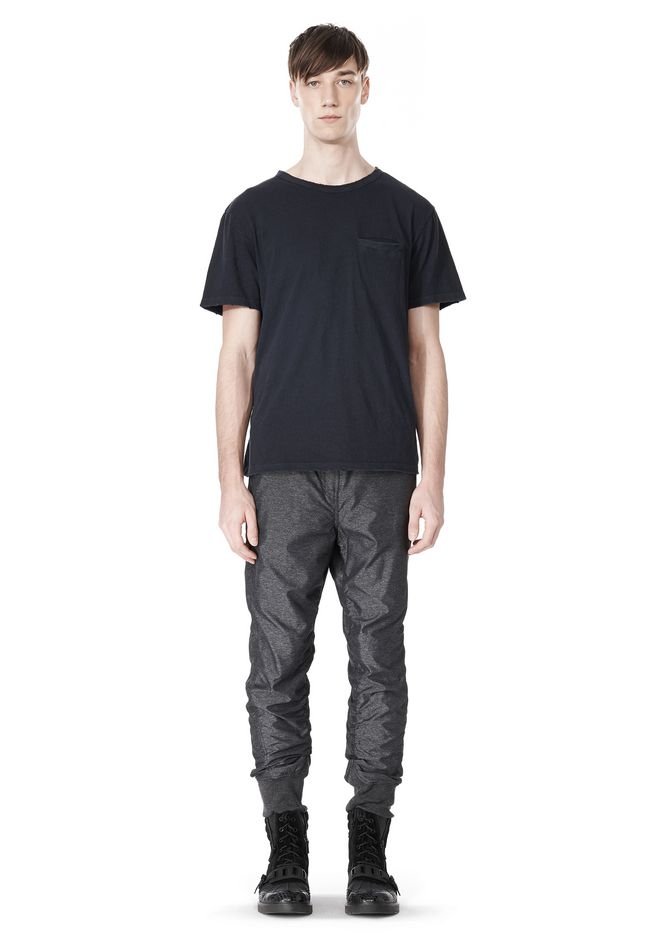T by ALEXANDER WANG MELANGE DOBBY NYLON TRACKPANTS