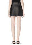 T by ALEXANDER WANG RAW EDGE A-LINE LEATHER SKIRT SKIRT Adult 8_n_a