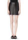 T by ALEXANDER WANG RAW EDGE A-LINE LEATHER SKIRT SKIRT Adult 8_n_d