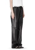 T by ALEXANDER WANG LEATHER PALAZZO TRACK PANTS PANTS Adult 8_n_e