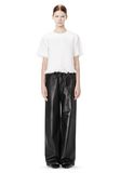 T by ALEXANDER WANG LEATHER PALAZZO TRACK PANTS PANTS Adult 8_n_f