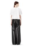 T by ALEXANDER WANG LEATHER PALAZZO TRACK PANTS PANTS Adult 8_n_r