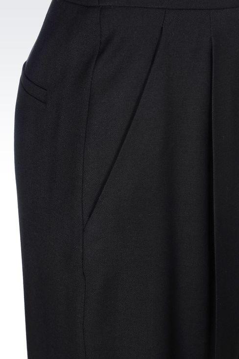 RUNWAY PALAZZO TROUSERS IN VIRGIN WOOL: Wide-leg trousers Women by Armani - 5