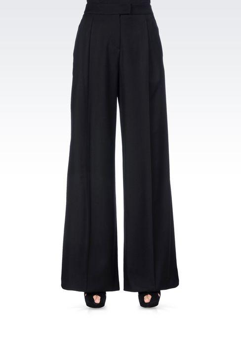 RUNWAY PALAZZO TROUSERS IN VIRGIN WOOL: Wide-leg trousers Women by Armani - 3