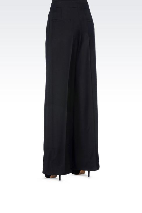 RUNWAY PALAZZO TROUSERS IN VIRGIN WOOL: Wide-leg trousers Women by Armani - 4