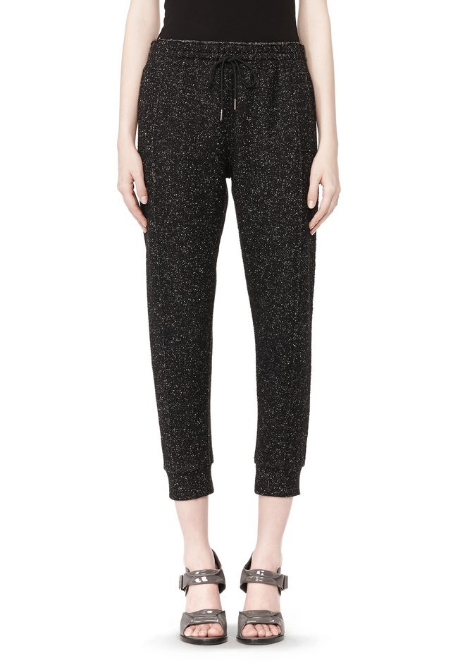 T by ALEXANDER WANG BOUCLE FLEECE TRACK PANT PANTS Adult 12_n_d