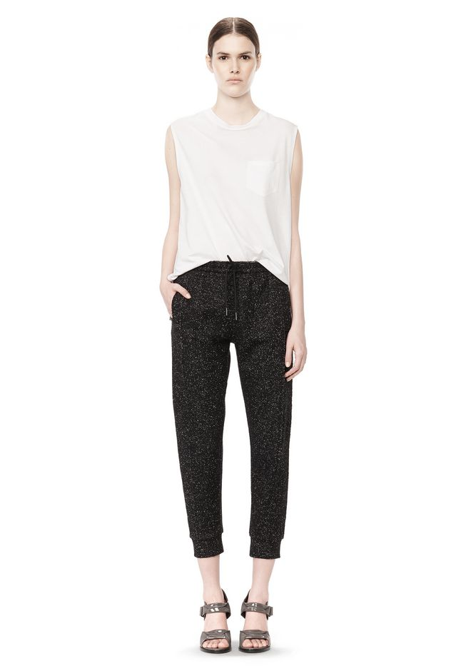 T by ALEXANDER WANG BOUCLE FLEECE TRACK PANT