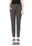 T by ALEXANDER WANG MELANGE FLEECE SWEATPANTS WITH RIB DETAIL PANTS Adult 8_n_d