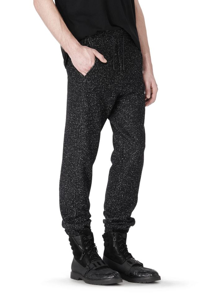 T by ALEXANDER WANG BOUCLE FLEECE TRACK PANTS PANTS Adult 12_n_e