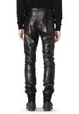 ALEXANDER WANG GATHERED LEATHER JEANS PANTS Adult 8_n_d