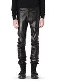 ALEXANDER WANG GATHERED LEATHER JEANS PANTS Adult 8_n_e