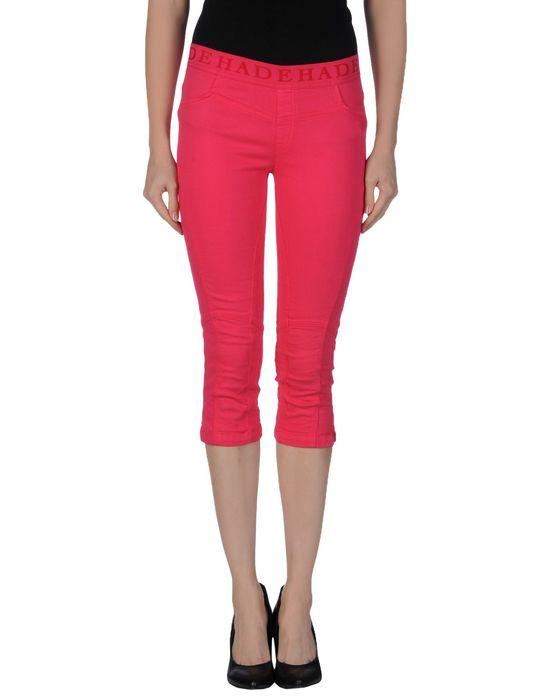 Джинсовые брюки-капри DEHA. Цвет: фуксия