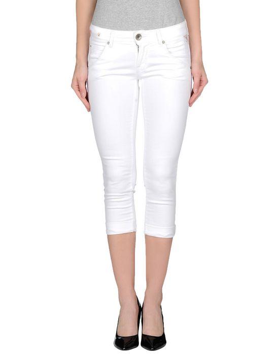 Джинсовые брюки-капри REPLAY. Цвет: белый