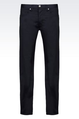 Armani 5 pockets Men 5-pocket trousers in stretch gabardine