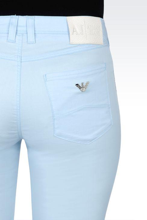 5-POCKET SKINNY TROUSERS IN STRETCH COTTON GABARDINE: 5 pockets Women by Armani - 4