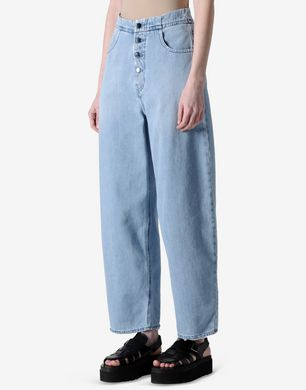 Oversized cropped jeans