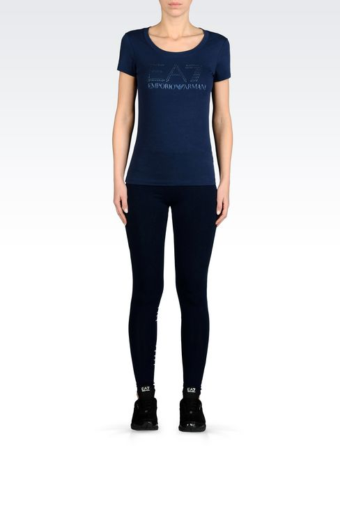 7COLOURS LINE JERSEY LEGGINGS: Leggings Women by Armani - 2