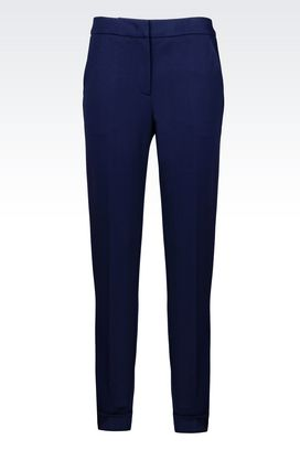 Armani Pants with cuff Women jersey trousers