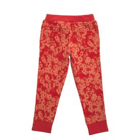 STELLA McCARTNEY KIDS, Bottoms, Super soft cotton fleece trousers in an orange daisy print, inspired by the mainline collection. <br> With an elasticated, ribbed waistline, side pockets and a concealed zip and hook fastening.