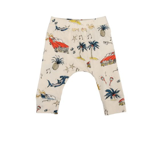 STELLA McCARTNEY KIDS, Bottoms, Soft organic cotton leggings featuring a 50's beach print and elasticated waistband.