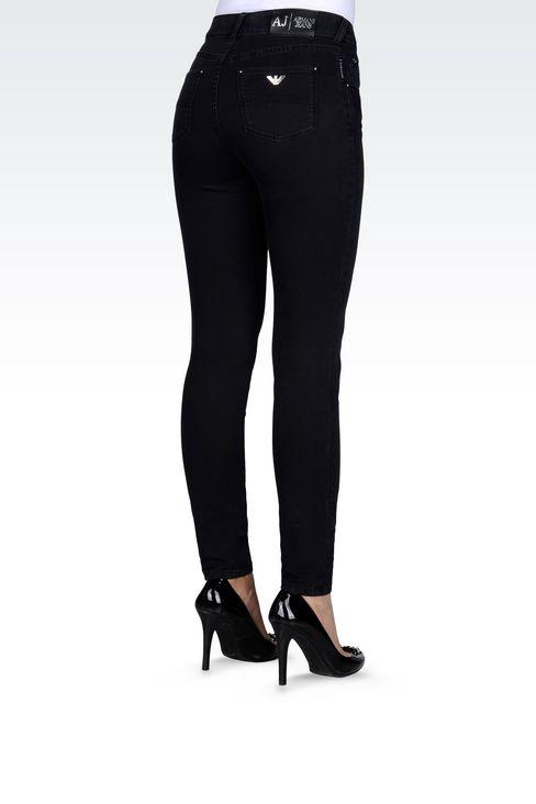 SKINNY DARK WASH JEANS: Jeans Women by Armani - 3
