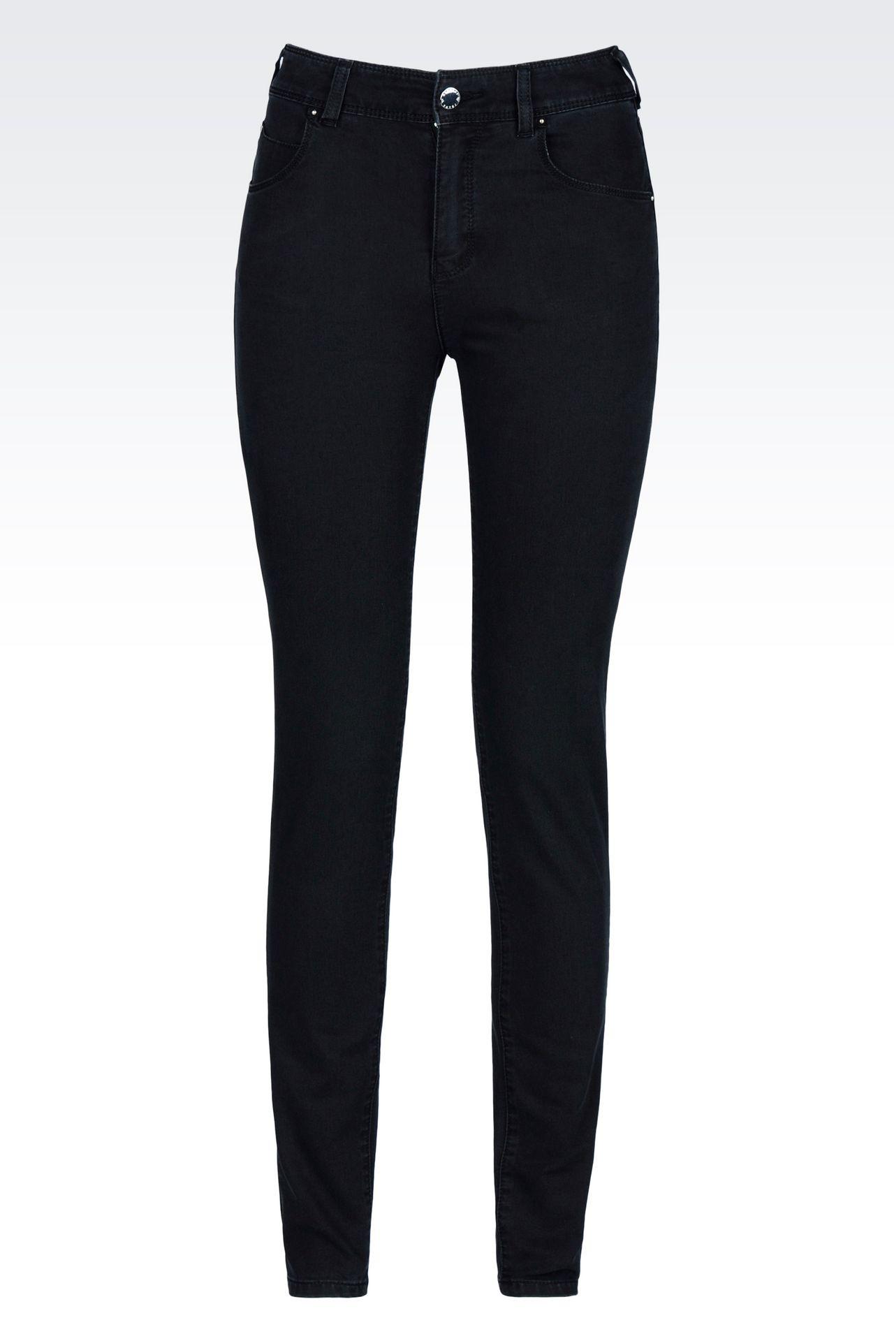 SKINNY DARK WASH JEANS: Jeans Women by Armani - 0