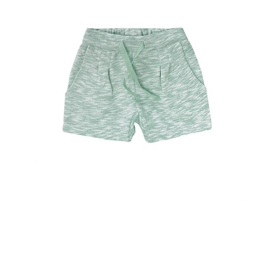 STELLA McCARTNEY KIDS, Bottoms, Super soft organic cotton fleece shorts in palm tree tonewith an elasticated waist, side pockets and a rolled hem.