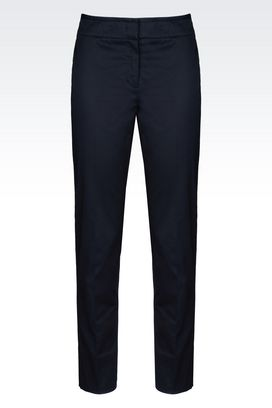 Armani Straight leg pants Women stretch cotton trousers
