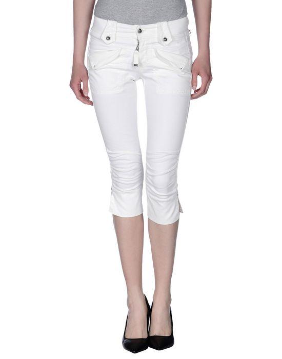 Джинсовые брюки-капри HIGH. Цвет: белый