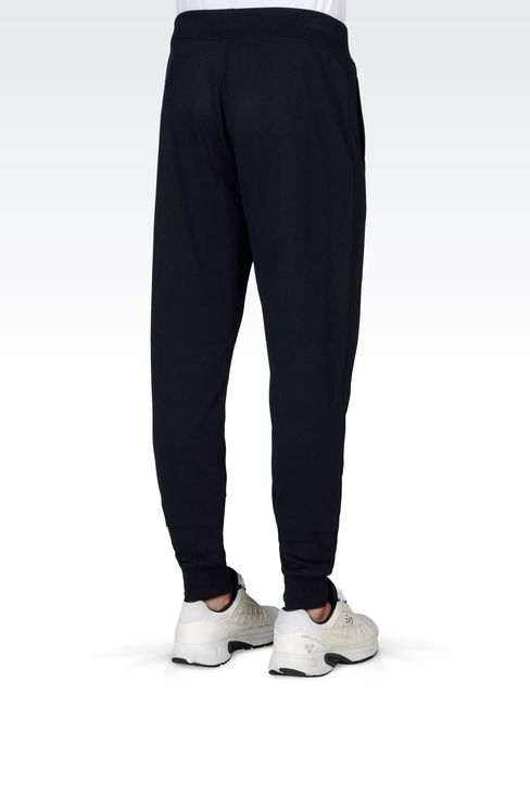 VISIBILITY LINE REGULAR FIT TROUSERS WITH CUFF: Pants Men by Armani - 4