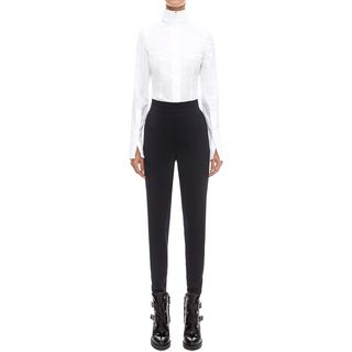 ALEXANDER MCQUEEN, Casual Pants, High-waisted Stretch Trousers