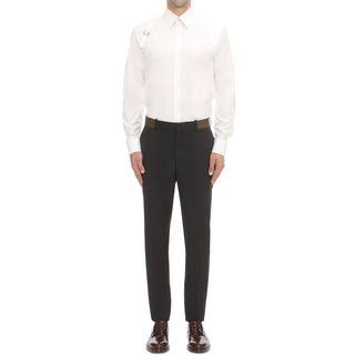 ALEXANDER MCQUEEN, Casual Pants, Wool Mohair Pants