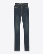 JEANS SKINNY ORIGINAL A VITA ALTA blu medio dirty in denim stretch