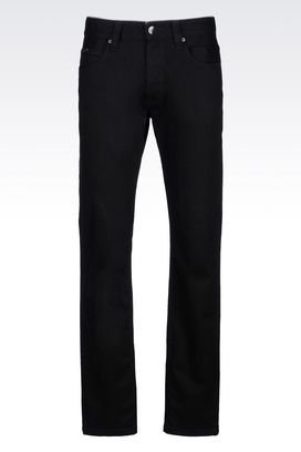 Armani Jeans Men regular fit black wash jeans