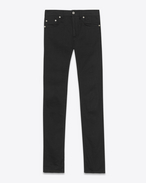 ORIGINAL Mid WAISTED Skinny JEAN IN Vintage Black Raw Stretch Denim