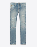 ORIGINAL Low WAISTED Destroyed SKINNY JEAN IN Dirty Original Blue Trash Denim