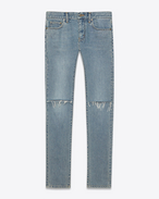ORIGINAL LOW WAISTED Ripped SKINNY JEAN IN Original Vintage Blue Denim